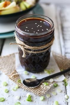 Perfectly sticky sweet, this Korean teriyaki sauce takes Asian food to a whole new level! Vegan, gluten free with a soy free version to meet any diet need! Vegan Gluten Free, Gluten Free Recipes, Dairy Free, Vegetarian Recipes, Cooking Recipes, Diet Recipes, Paleo, Vegan Teriyaki Sauce, Dessert