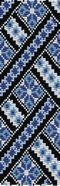 Loom & Peyote 4 drop Pattern BT-060