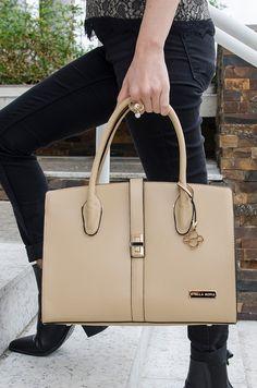 1a62770da Bolsa Sílvia - Stella Sofia #bolsa #creme #couroecológico #look #moda #