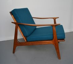 Mid-century, retro, Australian Parker chair - look how good a solid dark colour looks
