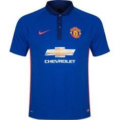 14-15 Manchester United Away Blue Jersey Shirt
