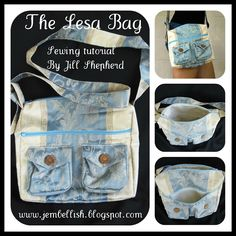Two Pocket Messenger Bag - Free Tutorial: The Lesa Bag by Creating my way to Success