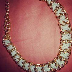 Gold necklace DIY