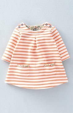Mini Boden 'Sweatshirt' Brushed Cotton Blend Dress (Baby Girls & Toddler…