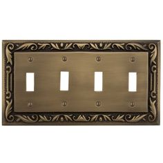 add an accent to your home with the floral design solid brass duplex outlet cover features a decorative floral design and a set of duplex