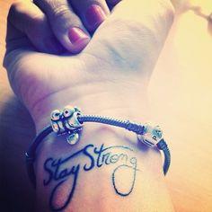 Znalezione obrazy dla zapytania stay strong tattoo