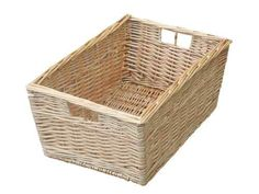 BUFF WILLOW WICKER STORAGE BASKET KITCHEN SMALL VEGETABLE BATHROOM | eBay