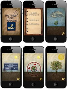 Digital - Tchibo - iOS app - like tamagochi - grow your own coffee plant - educational and promotional - looks boring as fuck