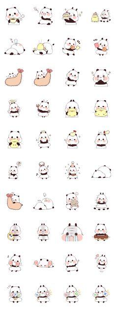 Yururin Panda ver.3 stickers!