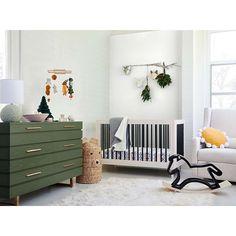 Modern Boys Rooms, Nursery Modern, Natural Nursery, Modern Kids, Baby Boy Rooms, Baby Boy Nurseries, Mid Century Nursery, Green Dresser, Nursery Room
