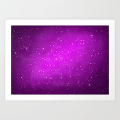 Buy Ultraviolet galaxy n.1 Art Print by psychae. Worldwide shipping available at Society6.com. Just one of millions of high quality products available.