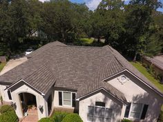 A GAF Camelot 2 Designer shingles roof installed by American Roofing & Construction with a 50 years warranty American Roofing, Gazebo, Construction, Outdoor Structures, Cabin, House Styles, Design, Home Decor, Building