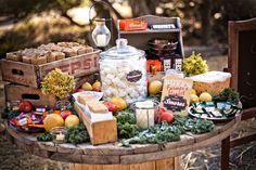 Smores Station-Fun Farmers Market Inspired Wedding: Chelsea + Dillon