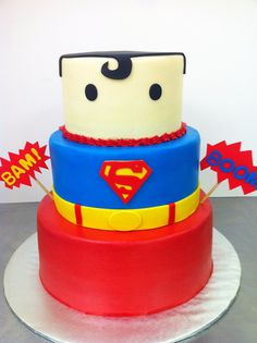 superman-cake10 by dpasteles cake shop (San Antonio, TX), via Flickr