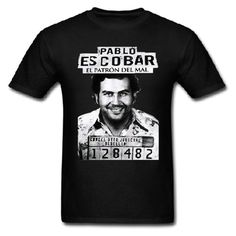 2017 Special Offer Rushed Fashion Broadcloth Cotton Print 8-shirts Family T Shirts Men's Short Sleeve Gift O-neck Pablo Escobar