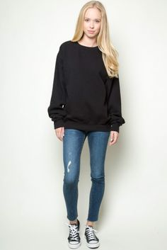 black converse sweatshirt