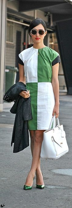 Colour blocked \ Mercedes-Benz Fashion Week Australia \ Street style