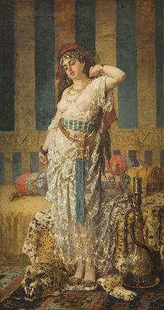 Lot: Pantaleon Szyndler - Odalisque, oil, Lot Number: Starting Bid: Auctioneer: DESA Unicum , Auction: Century and Modern Art, Date: October 2016 EDT Dance Pictures, Cool Pictures, Spanish Gypsy, Rajasthani Painting, Gypsy Girls, Oil Pastel Art, Central And Eastern Europe, Oriental, Persian Culture