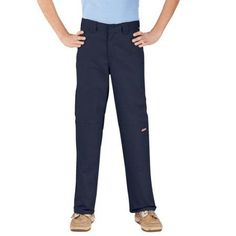 Dickies Boys' Double-Knee Twill Pants, Size: 12, Blue