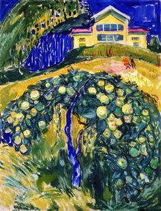 Edvard Munch, Manzano en el jardín, 1932-4. Óleo sobre lienzo, 100.5 x 77.5 cm, Museo Munch, Oslo