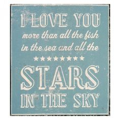 Go Jump in the Lake I Love You More than the Stars Wall Art | Pure Home