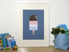The Ice Cream Poster by AndILoveYouSheSaid on Etsy, $45.00