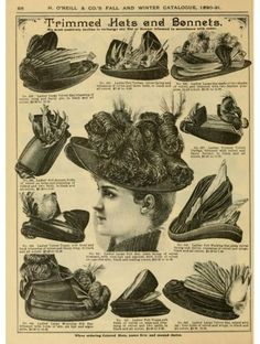 Hats of H. O'Neill and Company 1890