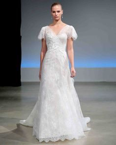 Isabelle Armstrong Fall 2017 Wedding Dress Collection | Martha Stewart Weddings – Short-sleeve A-line wedding dress