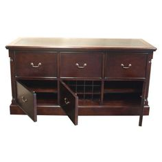 Solid mahogany filing and office storage cabinet.