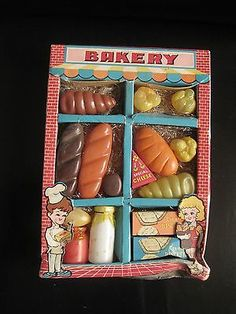 Very RARE Vintage 1956 Modern Toy Bakery Shop Celluloid Toy Made in Japan