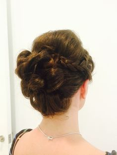Another bridesmaid. 2015 wedding hair by Jo Black