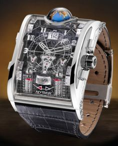 Hysek Colosso GMT and Minute Repeater. Whoa.  That's some kind of funky watch.