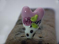 focal heart bead