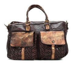 wardow.com - Tasche von Campomaggi, Lavata Shopper Leder gold 39 cm