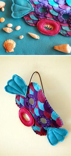 Maschera pesce ~ Fish mask - di PiccoleCose via it.dawanda.com  #carnival