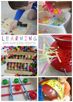 13 Ways to Learn with Everyday Objects - Kids Activities Blog featuring ideas from The Educators' Spin On It