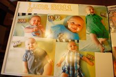 baby book ideas...this mom is an overachiever but I like her ideas.