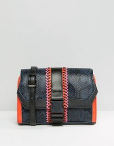 Image 1 of Skinnydip Faux Snake Buckle Crossbody Bag