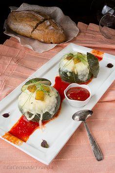 Calabacines redondos de Niza rellenos
