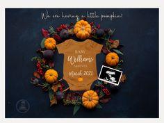 October Pregnancy Announcement, Thanksgiving Pregnancy Announcement, Halloween Pregnancy Announcement, Pregnancy Announcements, Shower Bebe, Baby Shower Fall, November Baby, Pregnant Halloween, Alice
