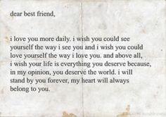 dear best friend,