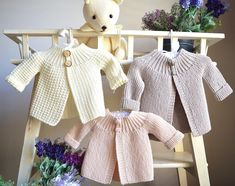 Vintage inspired sidedways cardi/jacket - P099 Knitting pattern by OGE Knitwear Designs