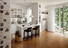 Bodenfliesen Holzoptik küche ewood iris ceramica weiß
