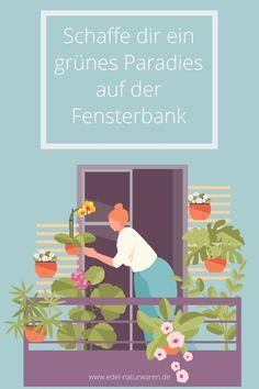 Mit etwas Geduld und einem grünen Daumen kannst du dir auch in einer Stadtwohnung einen kleines grünes Paradies schaffen oder gar Gemüse auf dem Balkon anbauen. Für Radieschen, Buschbohnen, Tomaten und Basilkum r braucht es neben den geeigneten Töpfen, Pflanzen nur etwas Geduld und die richtigen Lichtverhältnisse. Hol dir in diesem Blogartikel die Tipps für Urban Gardening für Anfänger und die richtige Auswahl für dein Gemüse auf dem Balkon. #edel-naturwaren.de Stress Management, Family Guy, Gardening, Ads, Fictional Characters, Edible Plants, Environmental Pollution, Large Backyard, Holistic Practitioner