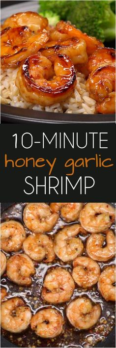 Honey Garlic Shrimp Recipe Here's a restaurant-quality recipe for succulent shrimp seared in a spicy-sweet marinade with honey, soy sauce, ginger, and garlic–that's ready in 10 minutes! Fish Recipes, Seafood Recipes, Cooking Recipes, Healthy Recipes, Cake Recipes, Honey Recipes, Indian Recipes, Vegetable Recipes, Casserole Recipes