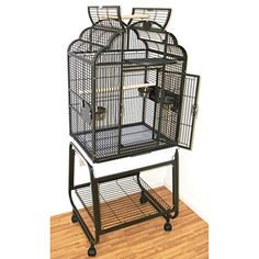 HQs Opening Victorian Cage Small Parrot Cage With Cart Stand 1 Per Box 22x17x55H Beige -- More info could be found at the image url.Note:It is affiliate link to Amazon.