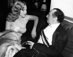 Marilyn Monroe and Groucho Marx Love Happy | 1946  // mm has a new name, a new movie, a new friend !!   The Marx Brothers, GROUCHO!! She's a charmer ;-D)