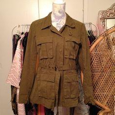Madewell Jackets & Blazers - Madewell Olive Utility Jacket size L