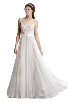 Sheath-Column Ivory Wedding Dress #weddingdress #cocomelody