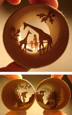Rolls: Paper Cut Collages by Anastassia Elias Toilet Paper Roll Art, Rolled Paper Art, Cardboard Crafts, Metal Crafts, Paper Crafts, Different Kinds Of Art, Shadow Box Art, Bright Art, Up Book